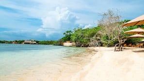 Plage privée, plongée sous-marine, snorkeling