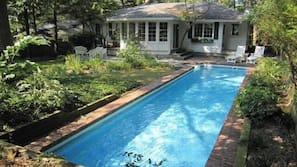 A heated pool, a lap pool