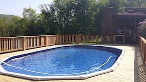 Piscina externa, piscina aquecida