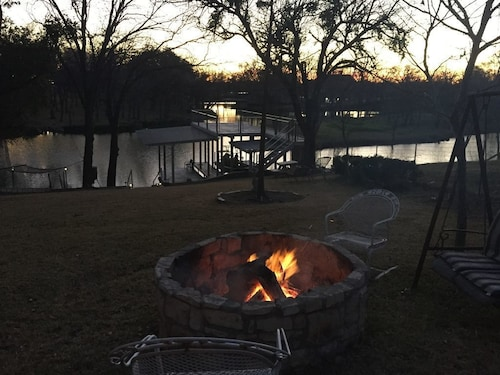 Great Place to stay PET Friendly Waterfront Lake House Fishing, Swimming, No Wake Cove, Fire Pit! near Burnet