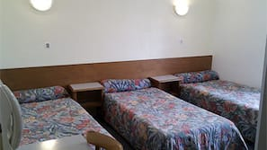 Blackout curtains, iron/ironing board, free cots/infant beds, free WiFi