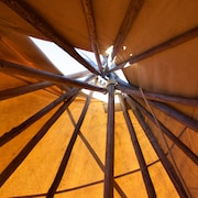 Authentic Sioux Style Tipi Loge on Private Lake