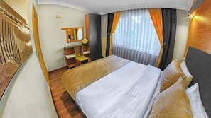 2 bedrooms, minibar, blackout curtains, iron/ironing board