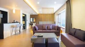 Premium bedding, soundproofing, wheelchair access