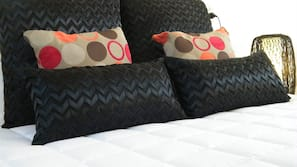 Premium bedding, individually decorated, iron/ironing board, bed sheets