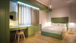 Safe på rommet, babysenger (mot et tillegg), gratis wi-fi og sengetøy