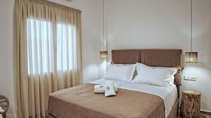 2 Schlafzimmer, hochwertige Bettwaren, Zimmersafe, Verdunkelungsvorhänge
