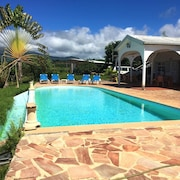 Apartment With 3 Bedrooms in Le Carbet, With Wonderful sea View, Pool Access, Enclosed Garden - 2 km From the Beach
