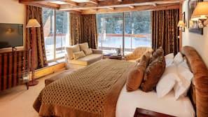 Premium bedding, minibar, blackout drapes, iron/ironing board