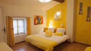 1 chambre, fer et planche à repasser sur demande, lits bébé (gratuits)