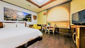 1 개의 침실, 고급 침구, 미니바, 책상