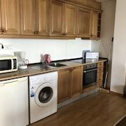 Cocina básica en la habitación