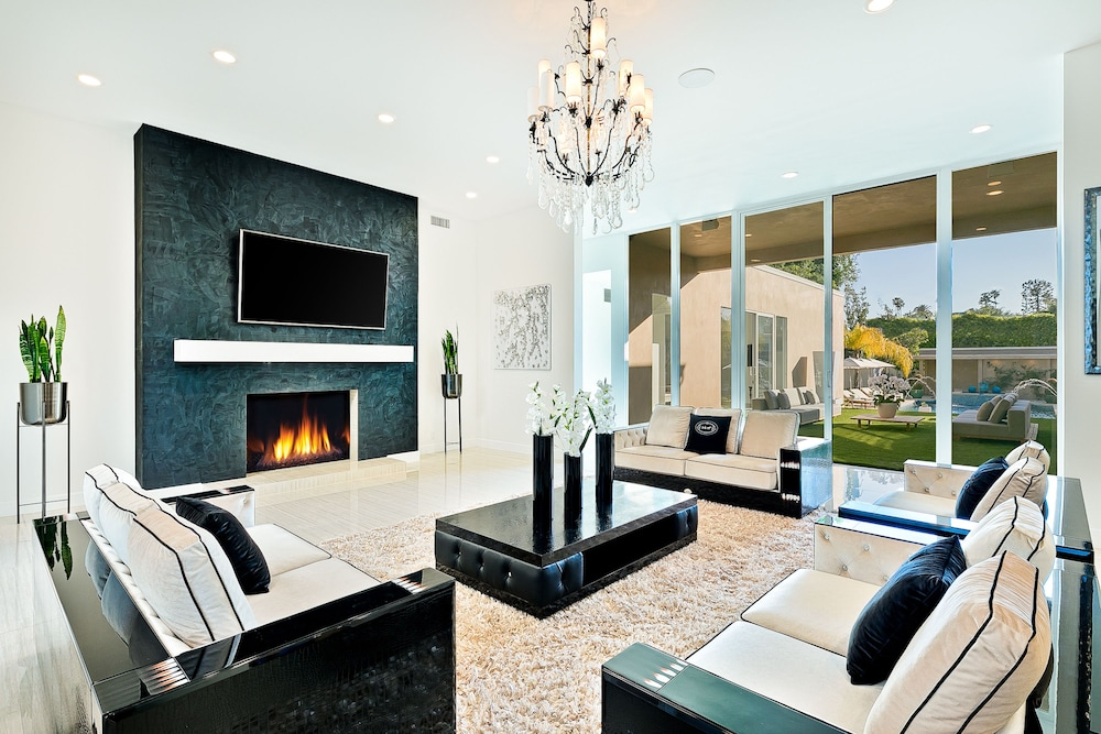 Living Room, Beverly Hills Luxury Modern Palace