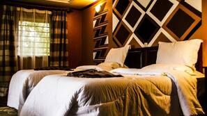 Daunenbettdecken, Verdunkelungsvorhänge, kostenpflichtige Zustellbetten