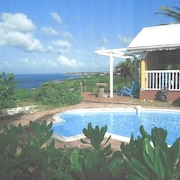 Bungalow With 2 Bedrooms in Le Moule, With Wonderful sea View, Private Pool, Enclosed Garden - 8 km From the Beach