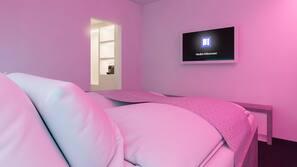 Kostenlose Minibar, Verdunkelungsvorhänge, schallisolierte Zimmer
