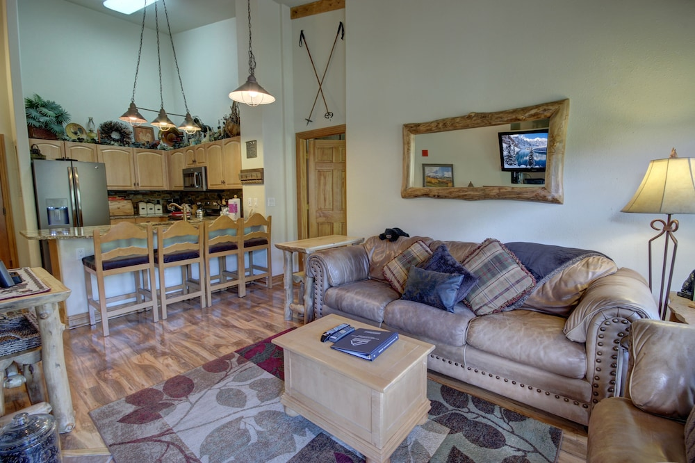 Living Room, Keystone Gulch Cabin 1668 by Summitcove Vacation Lodging