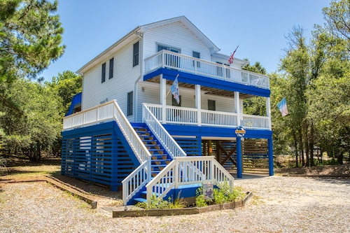 Blue Turtle Beach House With Free Heated Pool, hot Tub, Near Beach/chicahauk !