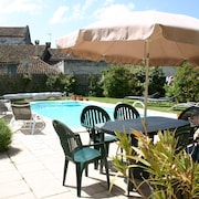 Two Beautiful Restored Houses in Vieux Mareuil With Private Courtyard and Pool
