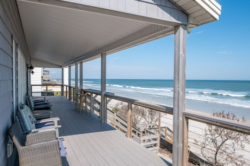 Oceanfront Vacation Rental Home With Covered & Open Deck
