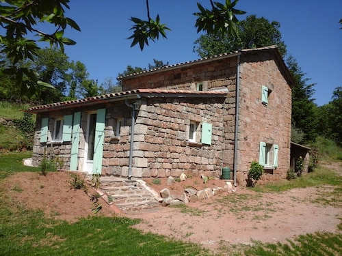 House With 3 Bedrooms in Chambonas, With Pool Access and Furnished Garden - 4 km From the Beach
