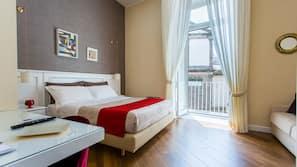 Premium bedding, memory-foam beds, minibar, in-room safe
