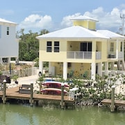 Sombrero Beach Home on Canal With Private Dock and Heated Pool