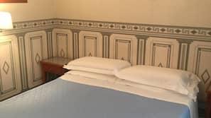 Desk, blackout drapes, soundproofing, rollaway beds