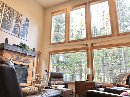 Riverfront Home Bordering Glacier National Park on 9 Acres!!!