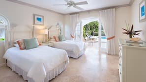 3 bedrooms, premium bedding, in-room safe, desk