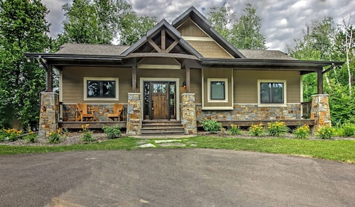 Beautiful New Home on Private Lake Across From Gull Lake and Other Local Spots!