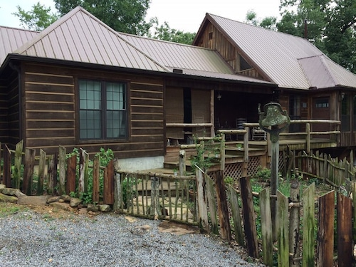 Check Expedia for Availability of Hand Crafted log Cabin on Beautiful Short Creek