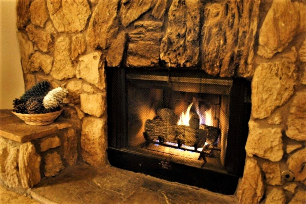 Fireplace, Snow Lake Lodge