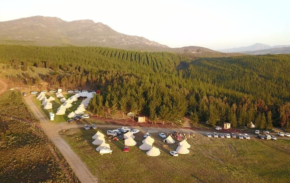 Aerial View, Cherry Glamping