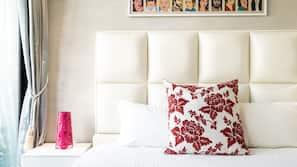 Premium bedding, free minibar, free WiFi, linens