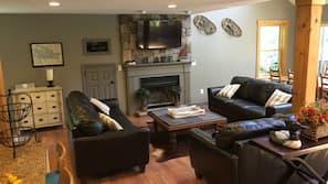 電視、壁爐、遊戲機、DVD 播放機