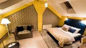 1 chambre, minibar, coffres-forts dans les chambres, bureau