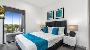 Pillow-top beds, blackout curtains, soundproofing, iron/ironing board