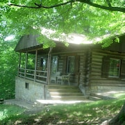 Log Cabin With a Spectacular View of the Shenandoah River and the Massanutten Mo