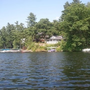 Waterfront Adirondack Style Rustic Cottage Great Sunsets