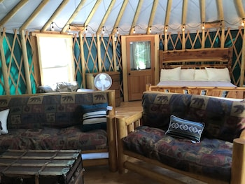 Brand New Yurts in the Wilds of Mt-stay @ GNP Like no Other