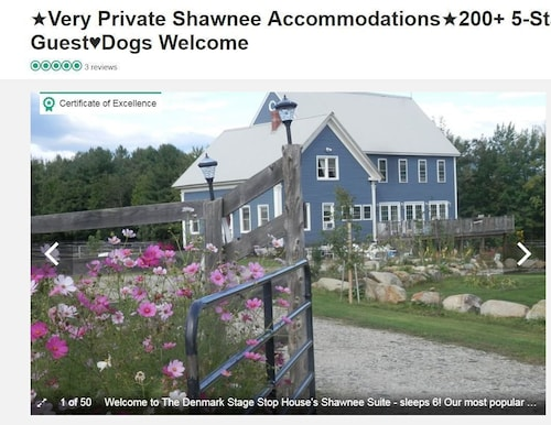 ★ Private Shawnee Accommodations ★ 200 + 5-sterne-bewertungen ★ 1-6 Guest ♥ Denmarkstagestop ♥