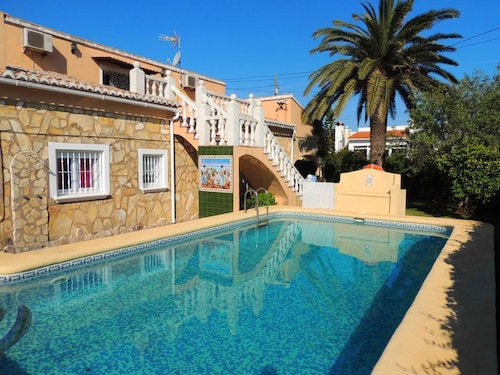 Villa With 4 Bedrooms in Oliva, With Private Pool, Furnished Terrace and Wifi - 700 m From the Beach