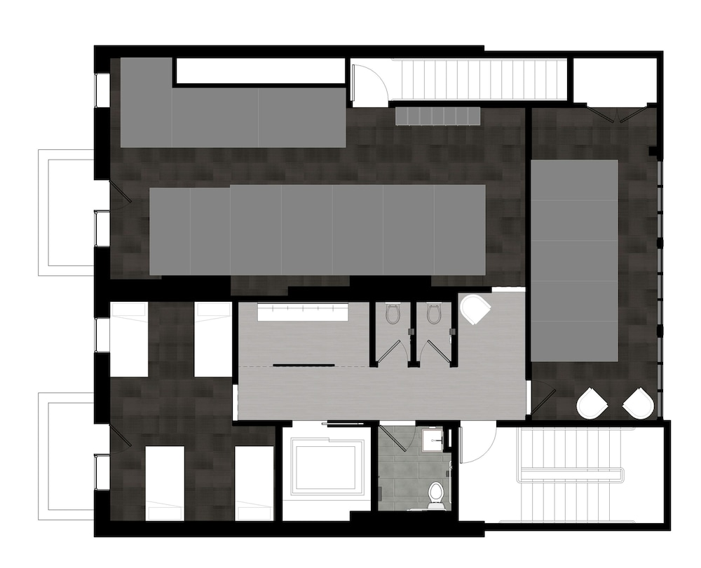 Floor plan, U Street Hostel
