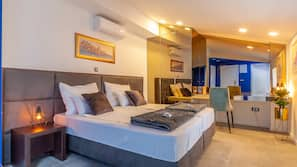 Premium bedding, down duvets, Select Comfort beds, in-room safe