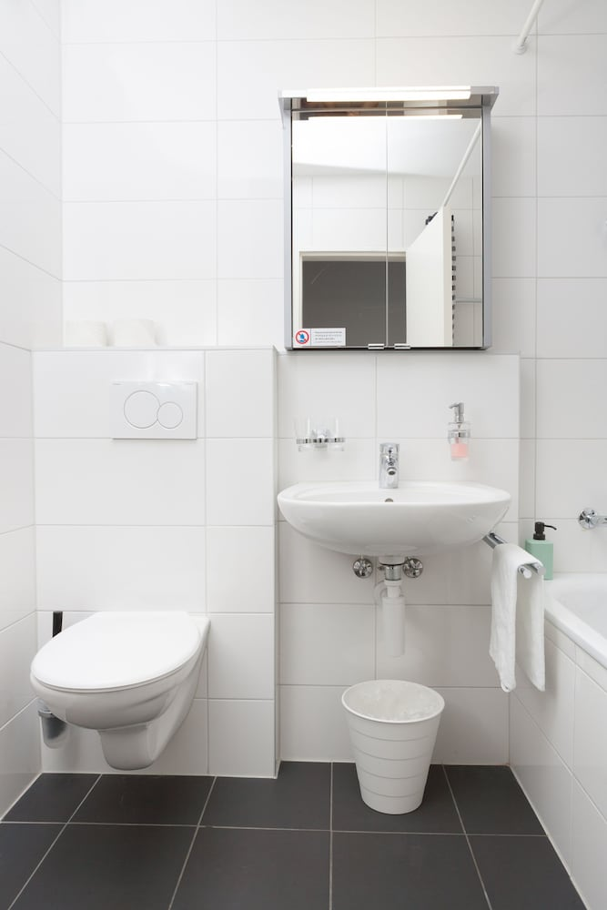 Bathroom, Galaxy Apartments