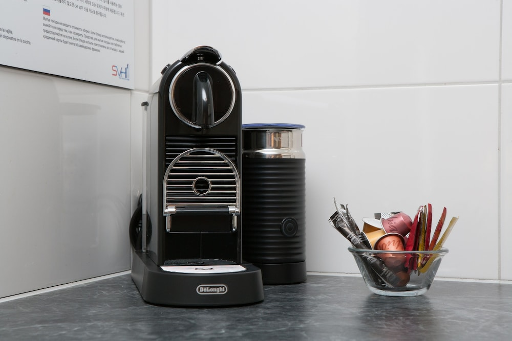 Coffee and/or Coffee Maker, Galaxy Apartments