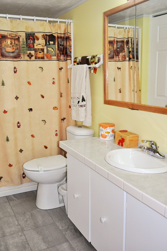 Bathroom, 72nd Street House Located Near the Pere Marquette River Fly Only Section