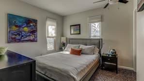 2 slaapkamers, een strijkplank/strijkijzer, wifi, beddengoed