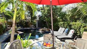 A heated pool